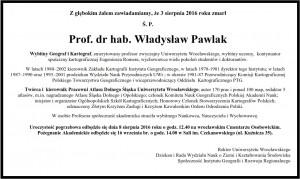 Prof. Pawlak_nekrolog
